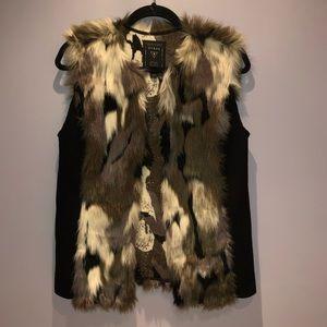Guess multicolor faux fur vest